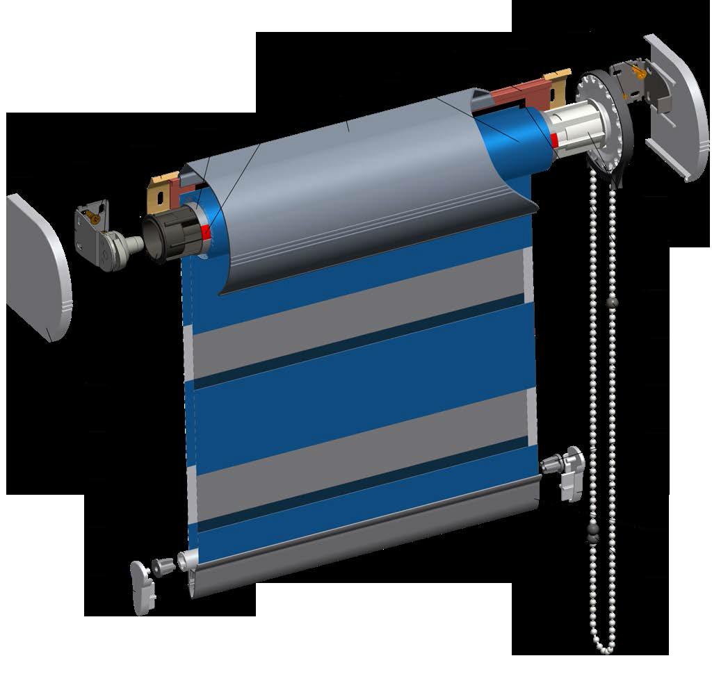 Рулонные шторы Lux 38 Zet ( коробная система с тканью