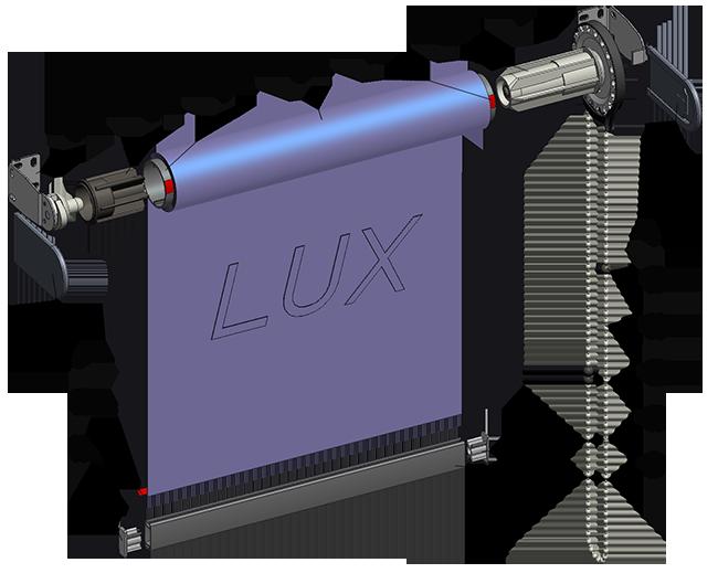 Рулонная штора Lux38 (открытая система)