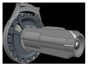 Механизм LUX 38 левый (цвет)