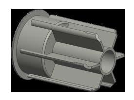 Адаптер трубы LUX 38 (цвет)
